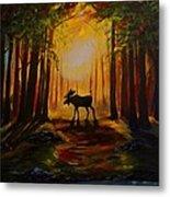Moose Hideout Metal Print