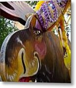 Moose On Parade Metal Print by Dora Miller