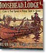 Moosehead Lodge Metal Print by JQ Licensing