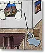 Essence Of Home - Mop And Bucket Metal Print