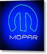 Mopar Neon Sign Metal Print