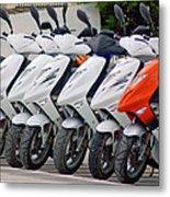 Moped City Metal Print