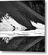 Moraine Lake Abstract - Black And White #2 Metal Print