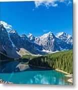 Moraine Lake At Banff National Park Metal Print