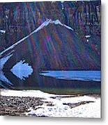 Moraine Lake Lens Flare Metal Print