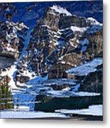 Moraine Lake Reflection Abstract Metal Print