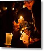 More Candles At Relay For Life Metal Print