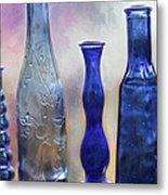 More Cobalt Blue Bottles Metal Print