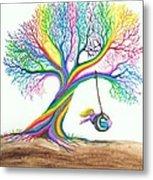 More Rainbow Tree Dreams Metal Print by Nick Gustafson
