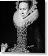 Moreelse Young Lady Metal Print