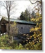 Morgan Bridge Belvidere Junction Vermont Metal Print