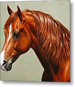 Morgan Horse - Flame - Mirrored Metal Print