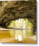 Moria Gate Arch In Opara Basin On South Island In Nz Metal Print