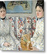 Morisot's The Sisters Metal Print