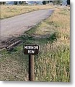 Mormon Row Metal Print