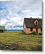 Mormon Row Historic District In Grand Tetons National Park-wyoming Metal Print
