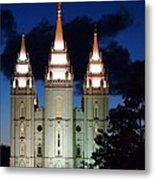 Mormon Temple Lds Utah Metal Print