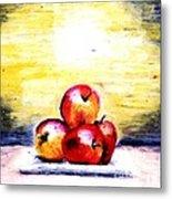 Morning Apples Metal Print
