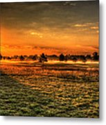 Morning Arrives At Foxfire  Metal Print