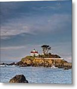 Morning At Battery Point Lighthouse Metal Print