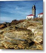 Morning At Beavertail Lighthouse Metal Print