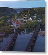 Morning At Harpers Ferry Metal Print