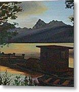 Morning At Lake Mcdonald Glacier Park Metal Print