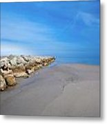 Morning At The Jetty Metal Print