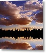 Morning At The Reservoir New York City Usa Metal Print