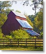 Morning Barn Metal Print