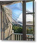 Morning Breeze At The Beach House Metal Print by Diane Diederich