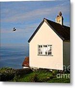 Morning Cottage At Lyme Regis Metal Print