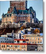 Morning Dawns Over The Chateau Frontenac Metal Print
