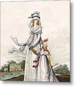 Morning Dresses, Fig. 63 & Fig. 64 Metal Print