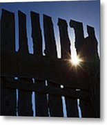 Morning Fence Metal Print