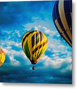 Morning Flight Hot Air Balloons Metal Print