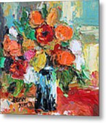 Morning Flowers Metal Print by Becky Kim