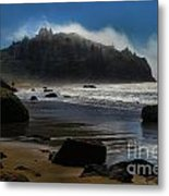 Morning Fog Burn Metal Print