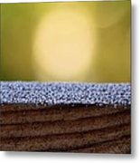 Morning Frost Abstract Metal Print
