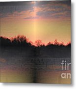 Morning Glow On A Frosty Day Metal Print