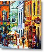 Morning Gossip - Palette Knife Oil Painting On Canvas By Leonid Afremov Metal Print