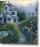 Morning In A Maine Garden Metal Print