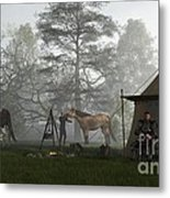Morning In The Knights Camp Metal Print
