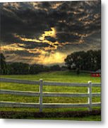 Morning In The Western North Carolina Mountains Metal Print