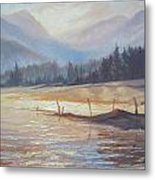 Morning Lake Metal Print