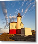 Morning Light At Coquille River Lighthouse Metal Print