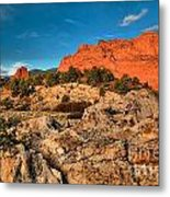 Morning Light At Garden Of The Gods Metal Print