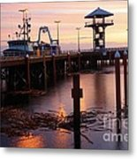 Morning Light At Port Angeles Metal Print