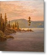 Morning Light On Coeur D'alene Metal Print by Paul K Hill