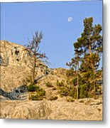 Morning Mammoth Moon Metal Print